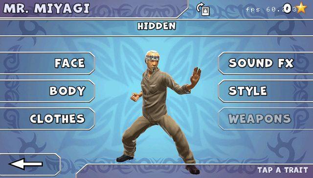 Senhor Miyagi é o seu Sensei em Reality Fighters para PS Vita