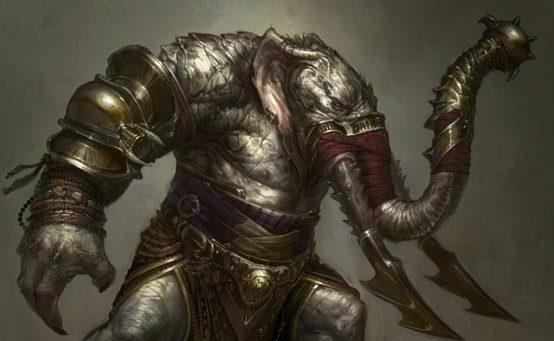 Monstros de God of War: Ascension – Elefantauro