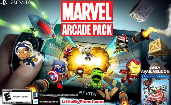 Sack-Novidades: Marvel Arcade Pack Chega a LittleBigPlanet PS Vita