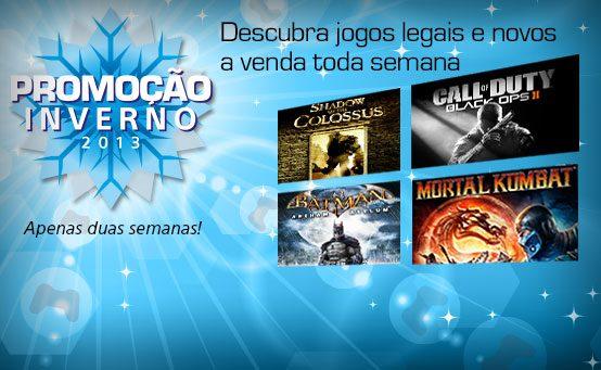 Promoção Inverno 2013 Começa Amanhã na PS Store BR