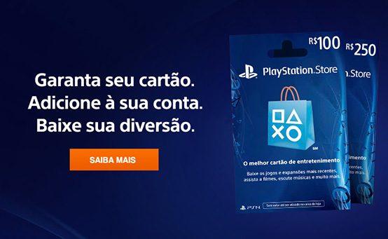 Cartões da PlayStation Store já nas lojas!