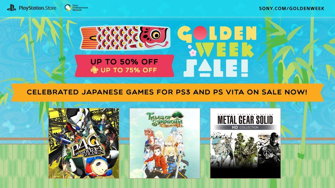 Oferta Golden Week na PS Store celebra jogos japoneses
