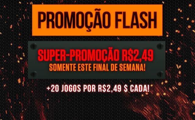 Promoção Flash: Mais de 20 jogos disponíveis por R$ 2,49