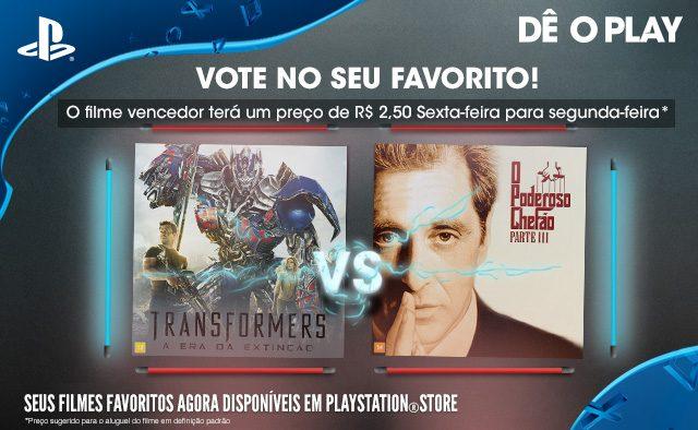 Vote no seu favorito – Transformers: A Era da Extinção vs. O Poderoso Chefão Parte III