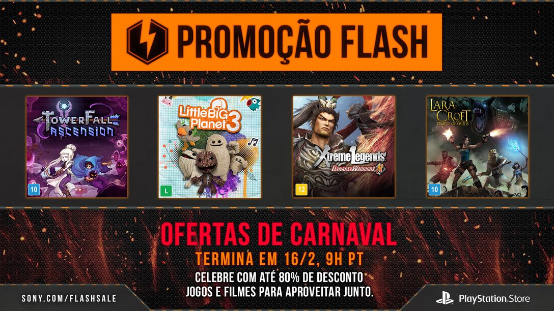 Promoção Relâmpago:  Ofertas de Carnaval com descontos para Jogos Multiplayer