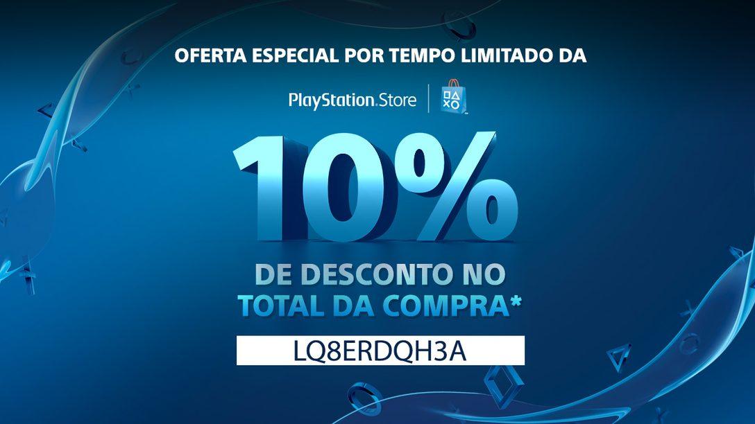 Fim de semana com 10% de desconto em compras na PS Store começa hoje