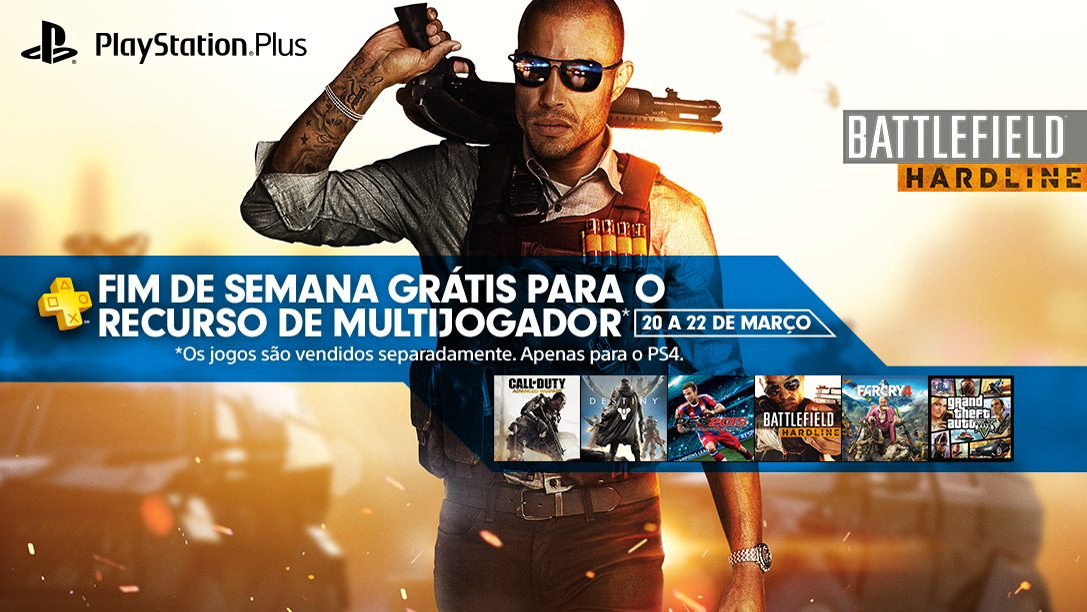 Modo Multijogador online gratuito de fim de semana para PS4