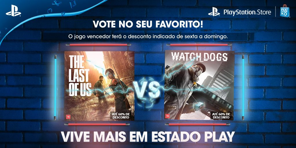Vote em seu Favorito: The Last of Us vs. Watch Dogs