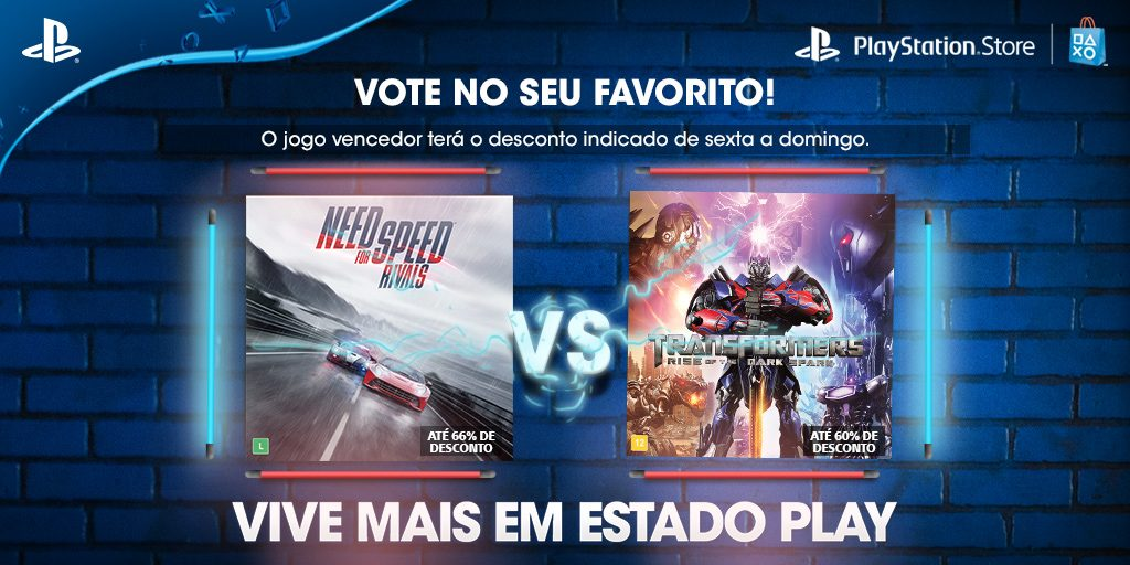 Vota em Su Favorito: Need For Speed Rivals: Complete Edition vs. Transformers: Rise of the Dark Spark
