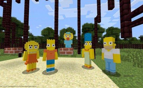 Alex e Os Simpsons chegam ao Minecraft no PlayStation