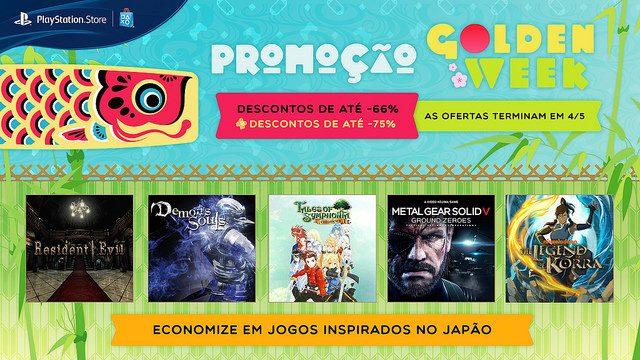 [ATUALIZADO] Promoção Golden Week: Ofertas em Jogos inspirados no Japão