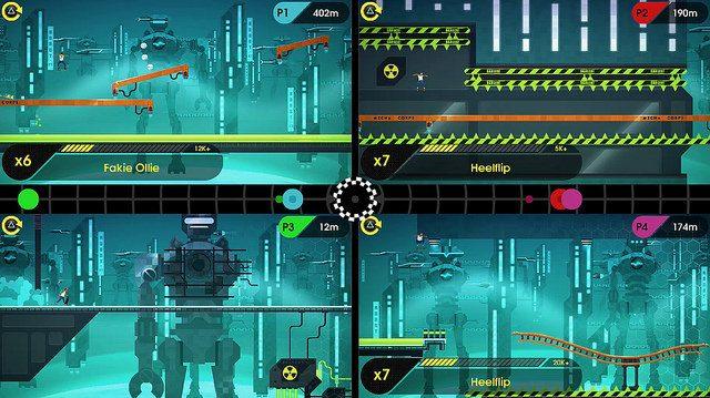 OlliOlli2 Ganha Hoje o Combo-Rush, um Modo Multiplayer Local pra 4 Jogadores