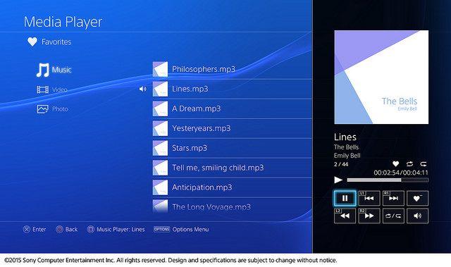 Media Player Chegando ao PS4