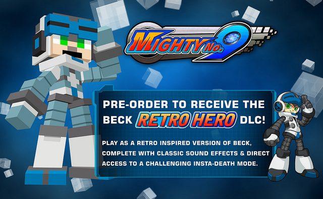 Mighty No. 9: Detalhes da Versão Física, Cross-Buy, Pré-venda para Retro Hero Mode