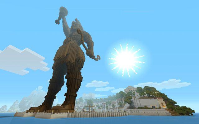 Greek Mythology Mash-up Pack do Minecraft Chega Hoje