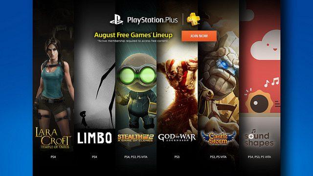 PS Plus: Jogos Grátis para Agosto de 2015