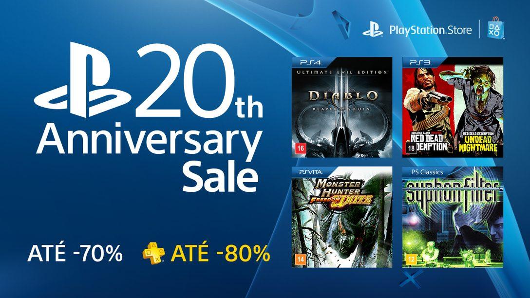 PlayStation 20th Anniversary Sale: Mais de 200 Títulos Com até 70% de Desconto