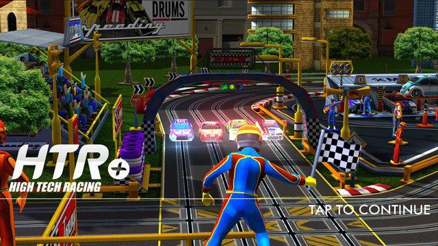 HTR+ Slot Car Simulator cruza a linha de chegada no PS Vita