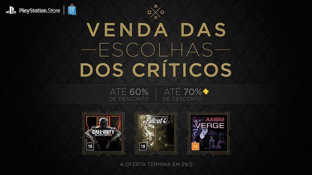 Aproveite: Venda das Escolhas dos Críticos – Jogos Com Até 60% de Desconto