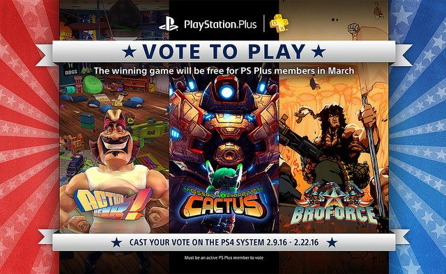 Vote to Play Março de 2016: Votação Começa em 9 de Fevereiro