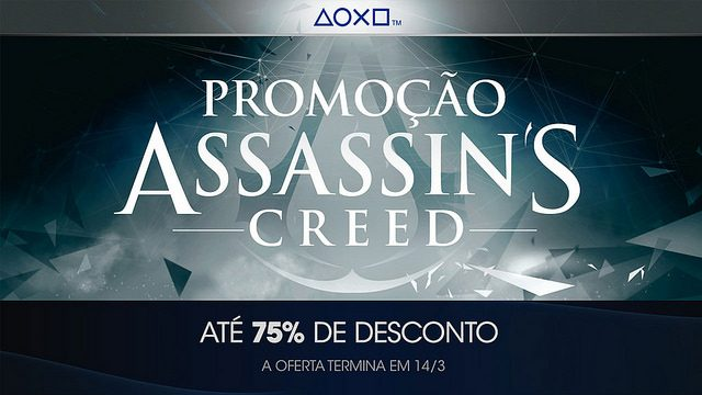 Até 75% De Desconto em Assassin's Creed e Jogos Vorazes
