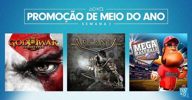Promoção de Meio do Ano Semana 2: God of War III Remastered e Mais com Até 80% de Desconto