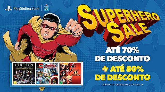 Superhero Sale: Descontos de até 70%, 80% para PS Plus