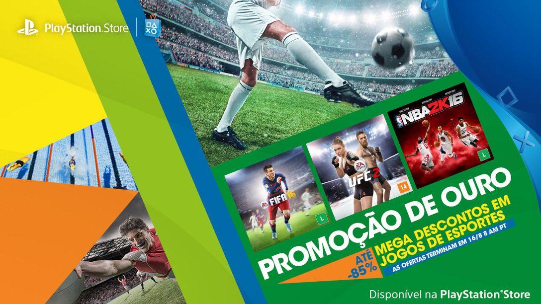 Promoção de Ouro: FIFA 16 e mais com até 85% de desconto