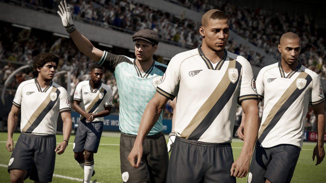 Lendas do Futebol Chegam ao FIFA 18 Ultimate Team no PS4