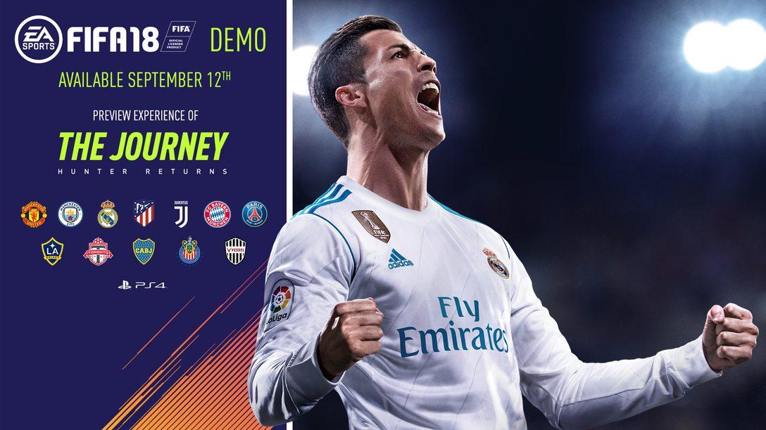 Demo de FIFA 18 Chega ao PS4 em 12 de Setembro