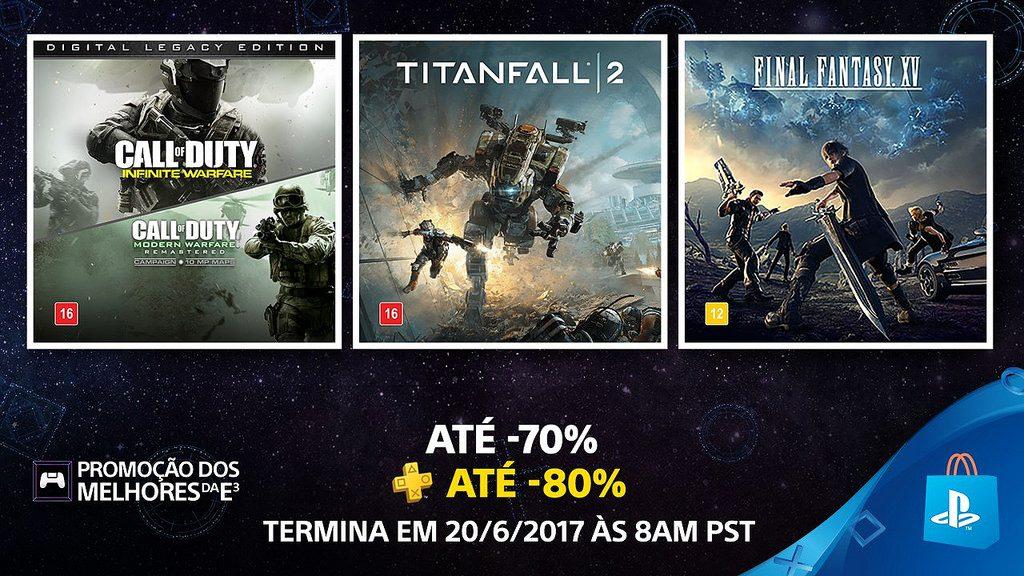 Promoção dos Melhores da E3 na PS Store