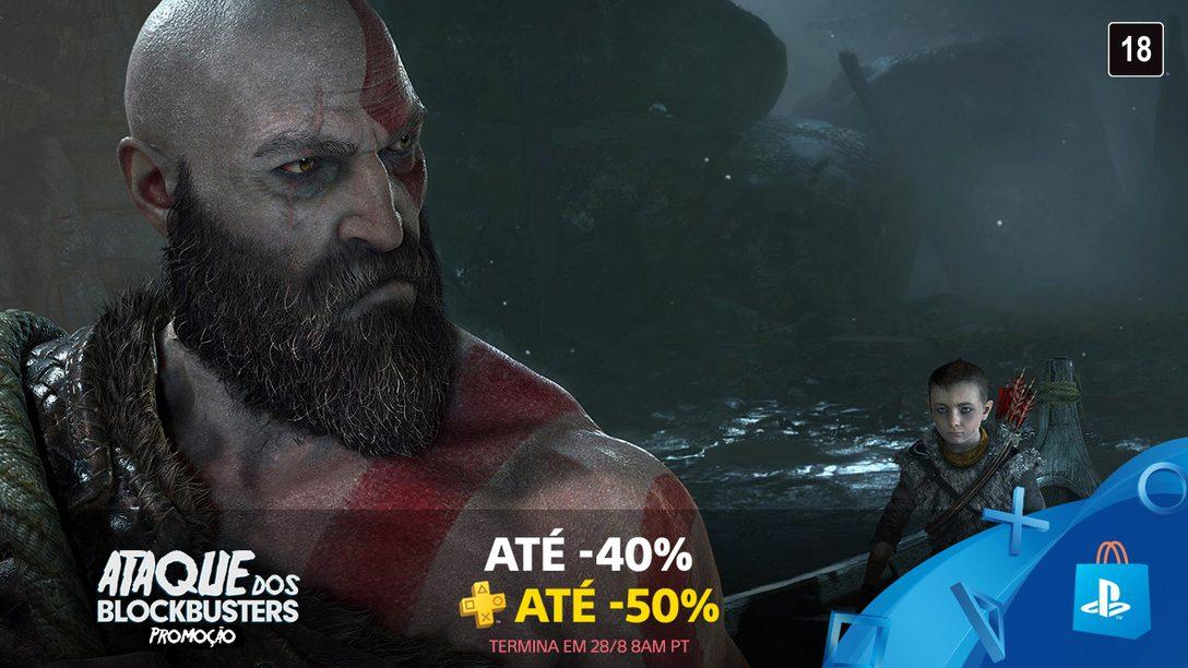 Promoção Ataque dos Blockbusters: Até 40% de Desconto em Grandes Títulos