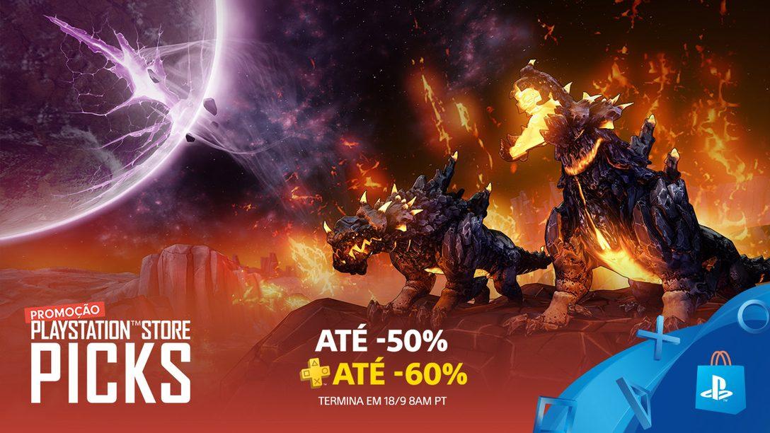 Promoção PlayStation Store Picks! Até 50% Durante a Semana em Títulos Favoritos