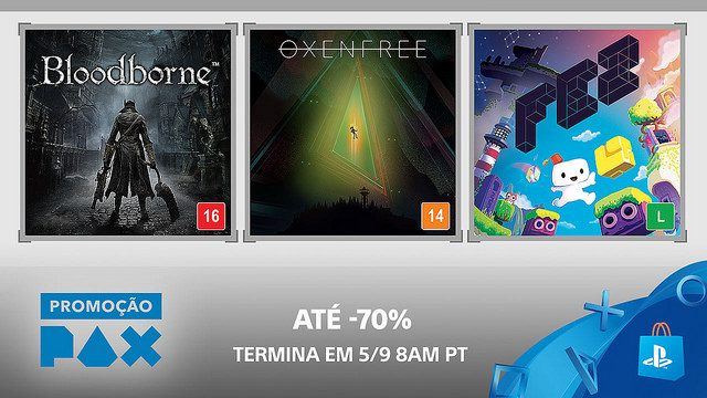 Começa a Promoção PAX na PS Store
