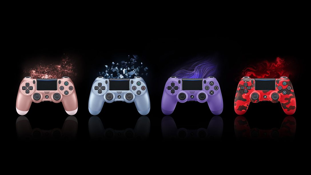 Dê uma Olhadinha nos Quatro Novos Controles DualShock 4 Sem Fio que Chegam Ainda este Ano