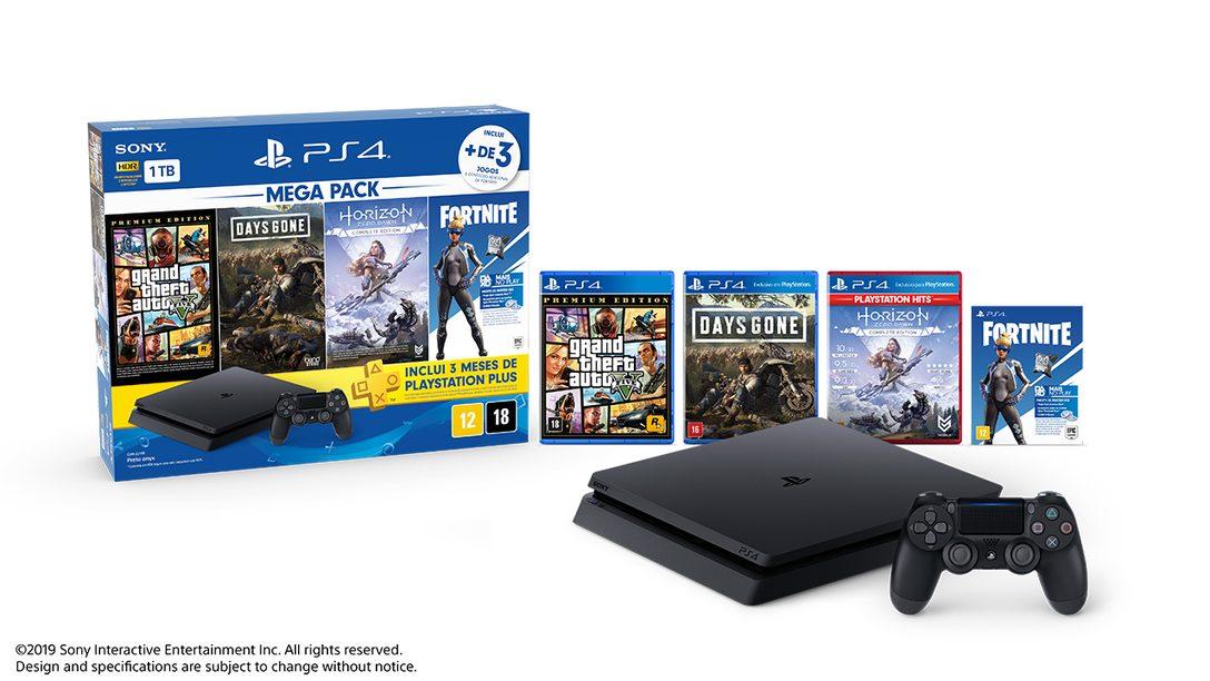 Novo PlayStation 4 Megapack Chega ao Brasil