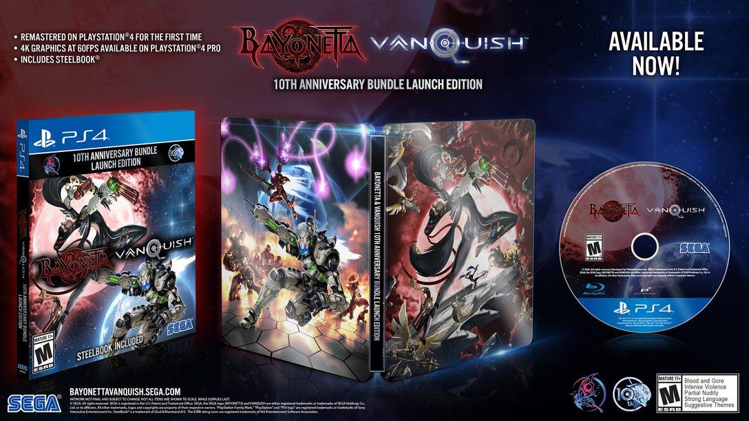 Bayonetta & Vanquish 10th Anniversary Launch Bundle Já Está Disponível