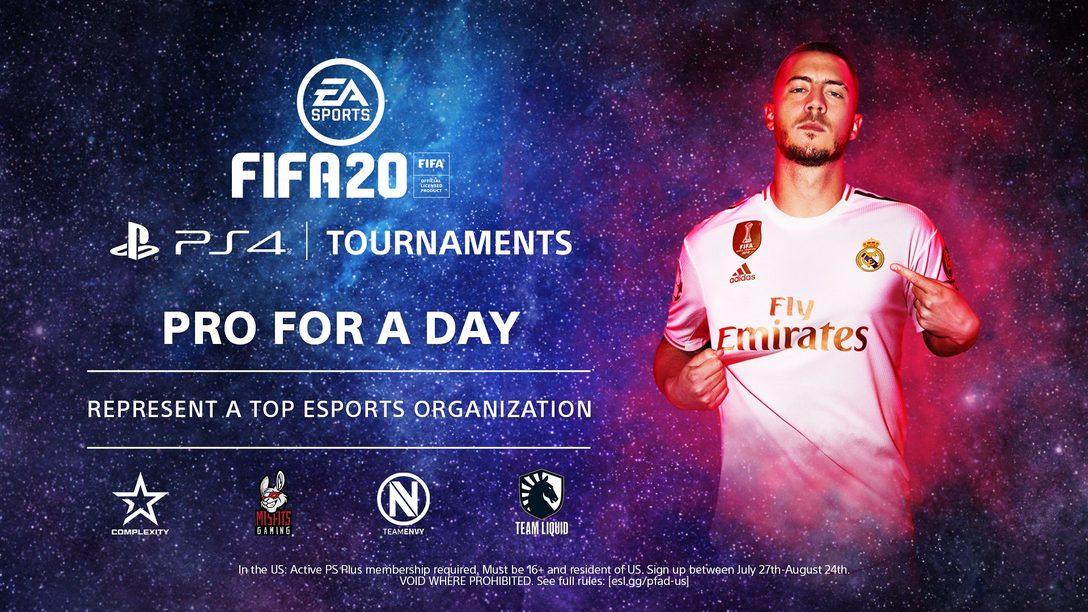 FIFA 20 PS4 Tournaments: Pro for a Day começa dia 3 de agosto