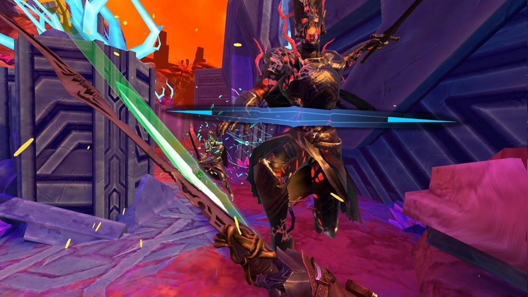 O roguelite de ação e espadas Until You Fall chega para PS VR ainda este ano