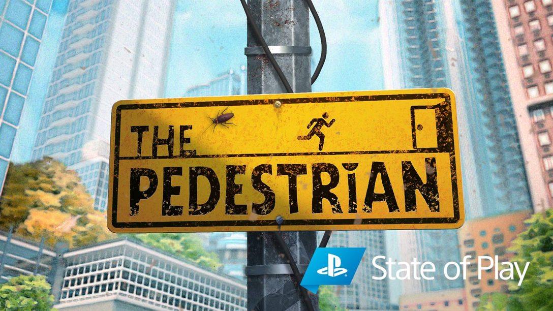Siga as placas até The Pedestrian em janeiro de 2021