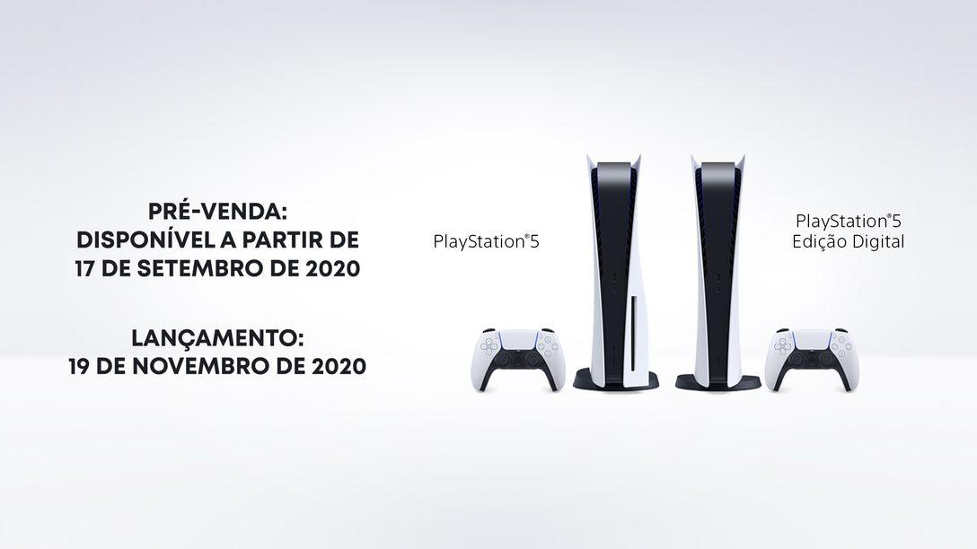 PlayStation 5 será lançado no Brasil em 19 de novembro com preços a partir de R$ 4499 para a Edição Digital e R$ 4999 para o PS5 com leitor Blu-ray Ultra HD