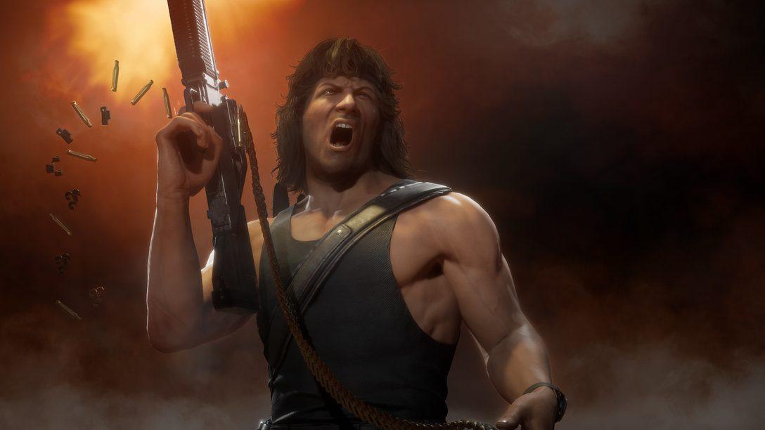 Mortal Kombat 11 Ultimate traz Rain, Mileena e Rambo