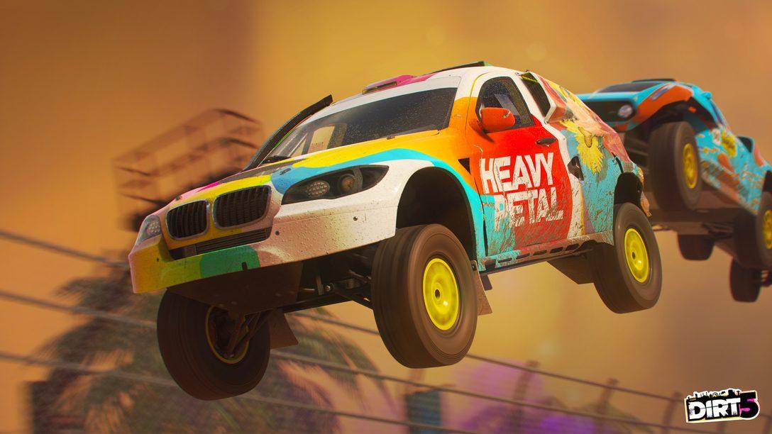 Detalhes dos modos multiplayer online de Dirt 5, incluindo os modos Party
