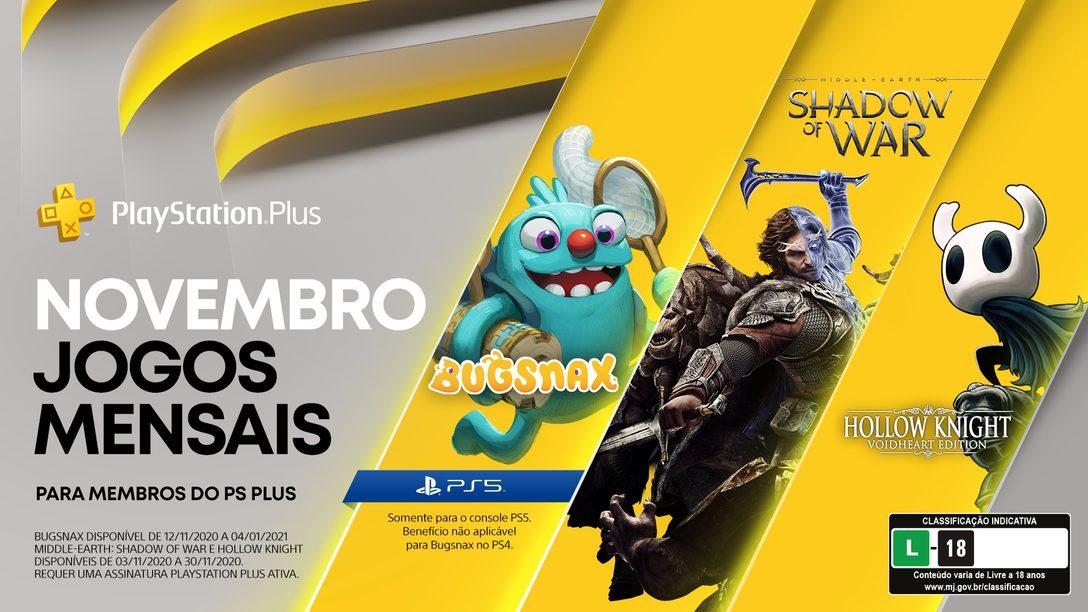 Detalhes da Coleção PS Plus + os jogos gratuitos de novembro para membros PlayStation Plus