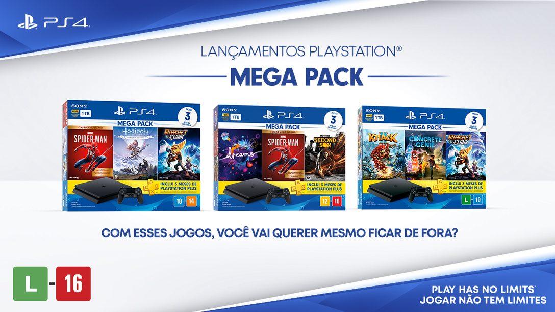 Novos PlayStation 4 Mega Packs já estão disponíveis