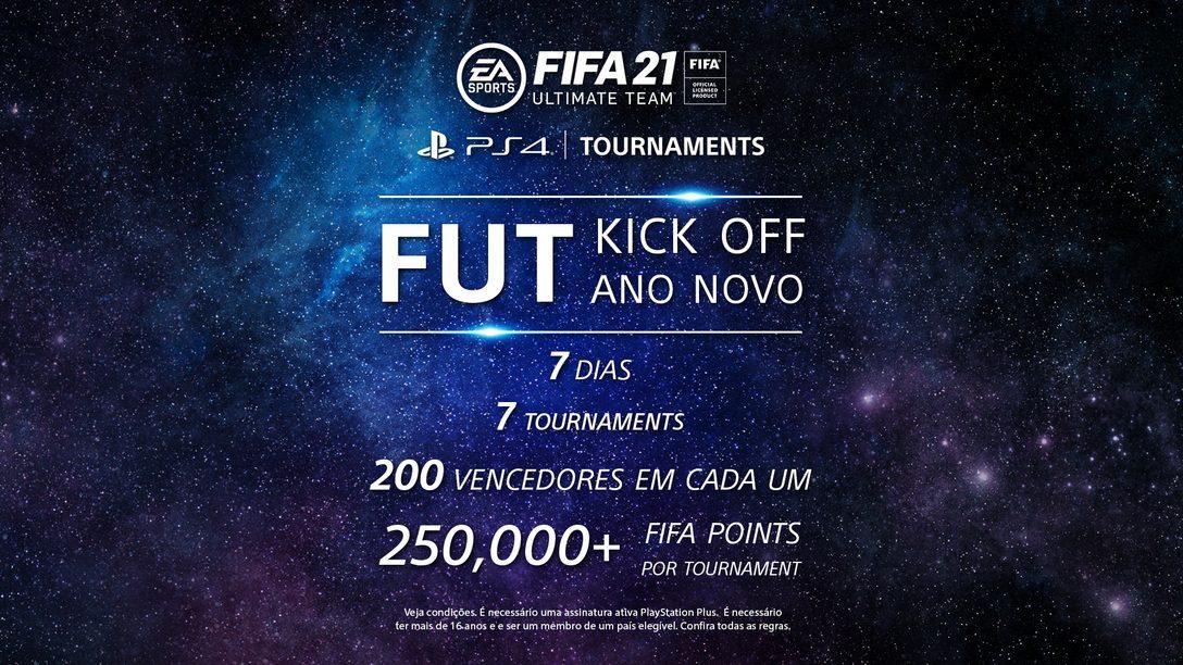 Dê o primeiro chute do ano com os torneios FIFA 21 FUT para PS4