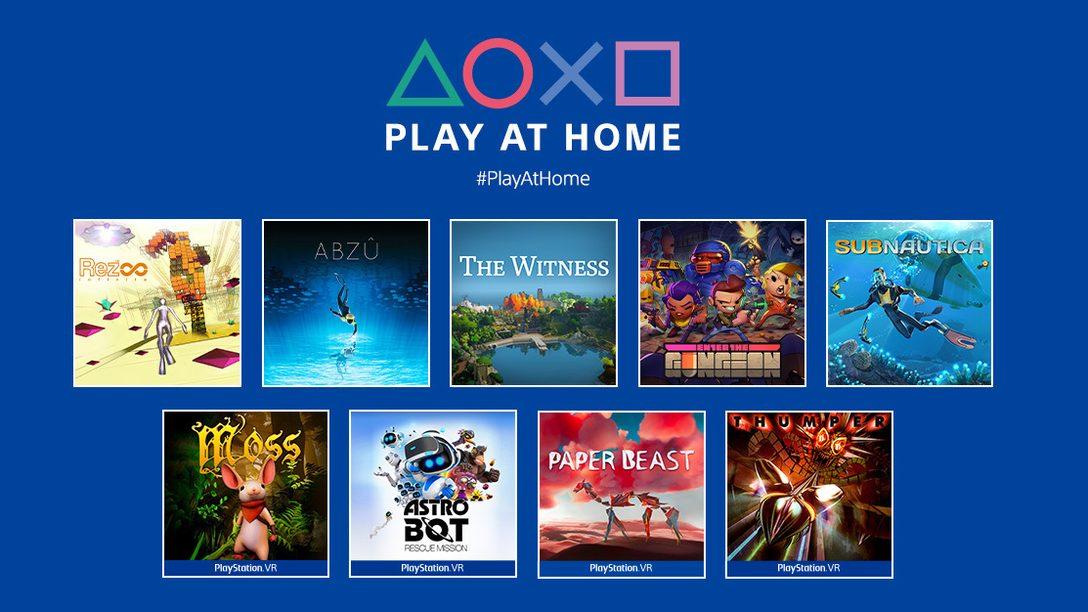 Atualização da iniciativa Play at Home 2021: 10 jogos gratuitos para baixar