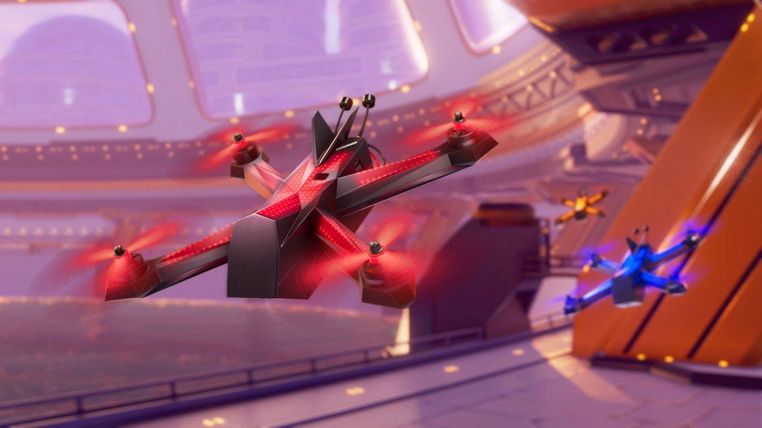 Drone Racing League Simulator, o simulador oficial de corrida de drones, chega hoje
