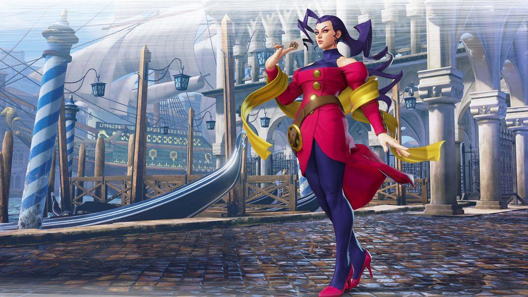 Como as origens de Rose em Street Fighter Alpha influenciam sua volta em SFV