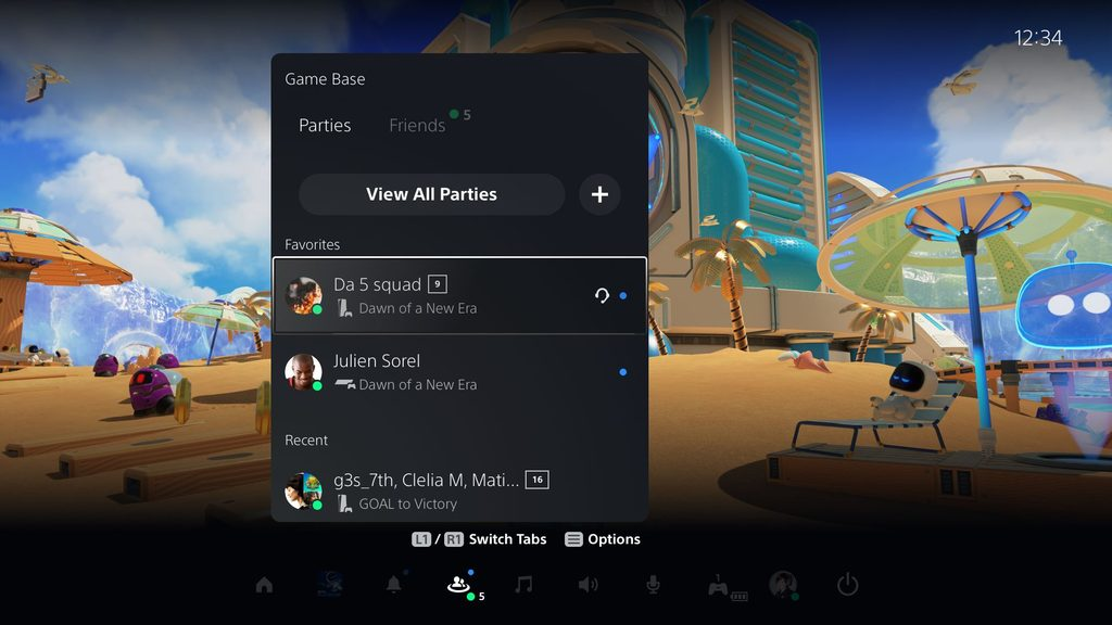 Playstation menu